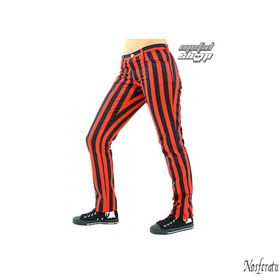 pants women Black Pistol - Close Pants Stripe Black / Red