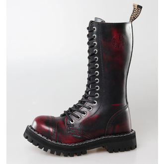 leather boots women's - STEEL - 135/136 Red black