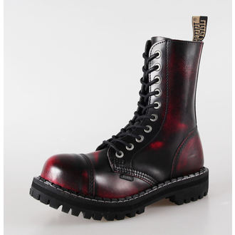 leather boots women's - STEEL - 105/106 Red Black-Burgund