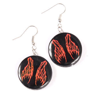 earrings POIZEN INDUSTRIES - EFBE2 Fairy Wing Disc - Red