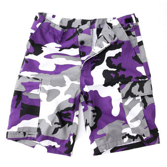 shorts men US BDU - Army - Lila Camo - 20080