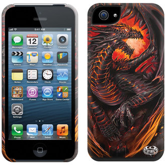 cover to cell phone SPIRAL - DRAGON FURNACE - Iphone, SPIRAL
