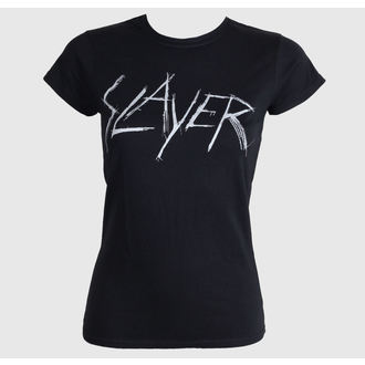 Metal T-Shirt women's Slayer - Scratchy Logo - ROCK OFF - SLAYTEE23LB