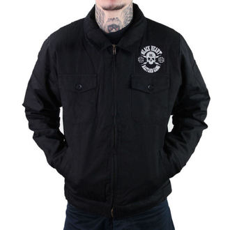 spring/fall jacket - TWISTER RIDE - BLACK HEART - 006-0006-BLK