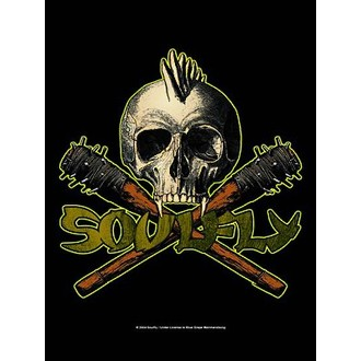 flag Soulfly - Skull, HEART ROCK, Soulfly