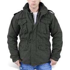 winter men´s jacket SURPLUS - REGIMENT M 65 - Black, SURPLUS