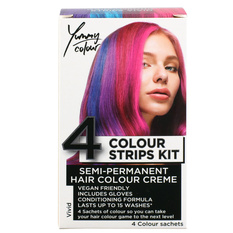 Hair dye STAR GAZER - Yummy Colour 4 Colour Strips Kit - Vivid, STAR GAZER