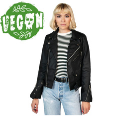 Women's (biker) jacket STRAIGHT TO HELL - Vegan Commando II - Black, STRAIGHT TO HELL