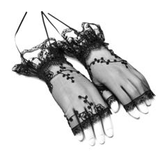 Fingerless gloves/ wrist warmers PUNK RAVE - Gothic Lily, PUNK RAVE