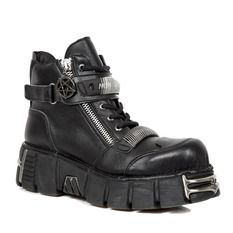 leather boots men's - NEW ROCK, NEW ROCK