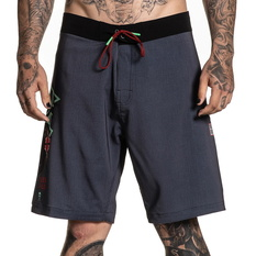 Men's shorts (swimsuits) SULLEN - RIGIONI SKULL - GRAY / TEAL, SULLEN