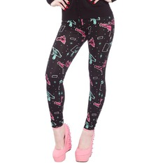 pants (leggings) women SOURPUSS - Ray Guns - Black, SOURPUSS