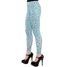 pants (leggings) women SOURPUSS - Optical Delusion - Aqua, SOURPUSS