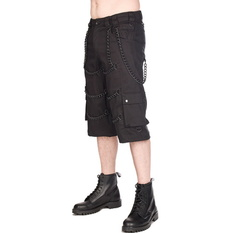 Men's shorts BLACK PISTOL - Chain - Denim Black, BLACK PISTOL