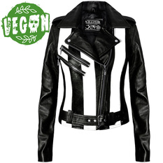 jacket women's (leather jacket) KILLSTAR - Beetlejuice, KILLSTAR