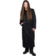 coat men's BLACK PISTOL - Army Coat Denim - BLACK, BLACK PISTOL