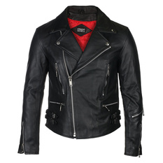 Men's leather jacket  STRAIGHT TO HELL - Defector Blk Nick, STRAIGHT TO HELL