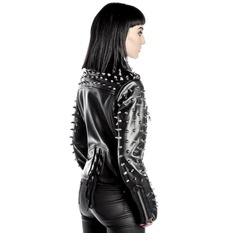 Women´s biker jacket KILLSTAR - Billie - Black, KILLSTAR