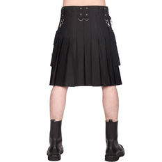 Men's kilt BLACK PISTOL - Denim - Black, BLACK PISTOL