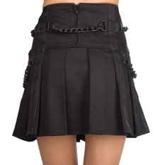 Women's skirt Black Pistol - Chain Denim - Black, BLACK PISTOL