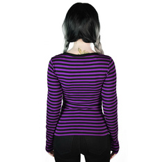Women's t-shirt with long sleeves KILLSTAR - Jett - PLUM, KILLSTAR