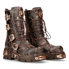 leather boots unisex - NEW ROCK - M.591-S8