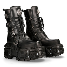 leather boots unisex - NEW ROCK - M.TANK373-S1