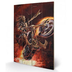 Wooden painting ANNE STOKES - (Hellrider), ANNE STOKES
