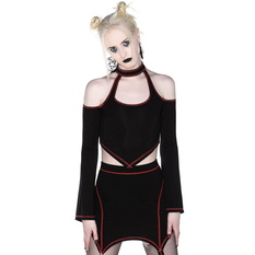 Women's t-shirt with long sleeves (crop top) KILLSTAR - Techno Witch, KILLSTAR