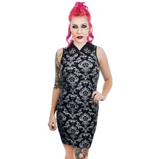 Dress Women's TOO FAST - BAROQUE VICTORIAN GOTHIC PENTAGRAM WEDNESDAY ADDAMS COL LAR, TOO FAST