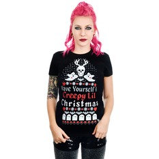 t-shirt gothic and punk women's - HAVE YOURSELF A CREEPY LIL CHRISTMAS BABYDOLL - TOO FAST, TOO FAST
