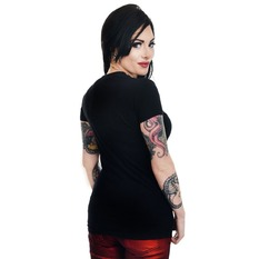 t-shirt gothic and punk women's - GRAVE ROBBER ZOMBIE XMAS VS HALLOWEEN BABYDOLL CHR - TOO FAST, TOO FAST