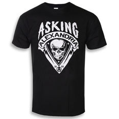 t-shirt metal men's Asking Alexandria - Skull Shield - ROCK OFF, ROCK OFF, Asking Alexandria
