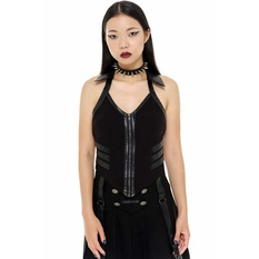 Women's top by KILLSTAR - Anita Ammo - BLACK, KILLSTAR