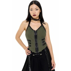 Women's top by KILLSTAR - Anita Ammo - KHAKI, KILLSTAR