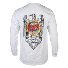 t-shirt men with long sleeve SLAYER - DIAMOND - Brilliant Abyss - White, DIAMOND, Slayer