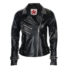 Women's (biker) jacket BLACK PISTOL - Rockers Lady - Sky Black, BLACK PISTOL