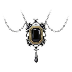 Pendant necklace ALCHEMY GOTHIC - Baroque Beauty - Pewter, ALCHEMY GOTHIC