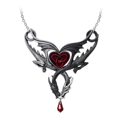 Pendant necklace ALCHEMY GOTHIC - Confluence Of Opposites - Pewter, ALCHEMY GOTHIC