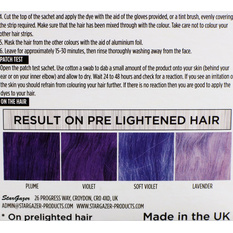 Hair dye STAR GAZER - Yummy Colour 4 Color Strips Kit - Viol, STAR GAZER