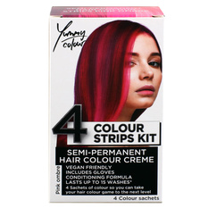 Hair dye STAR GAZER - Yummy Colour 4 Color Strips Kit - Pink, STAR GAZER