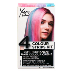 Hair dye STAR GAZER - Yummy Colour 4 Colour Strips Kit - Pastel, STAR GAZER