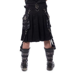 Men's kilt CHEMICAL BLACK - CARL - BLACK, CHEMICAL BLACK
