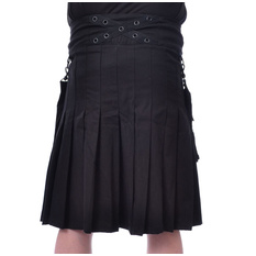 Men's kilt Poizen Industries - CATO - BLACK, POIZEN INDUSTRIES