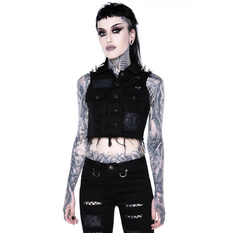 Women's vest KILLSTAR - Come Undone Denim Vest, KILLSTAR