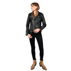 Women's leather jacket  STRAIGHT TO HELL - Commando Blk Nick, STRAIGHT TO HELL