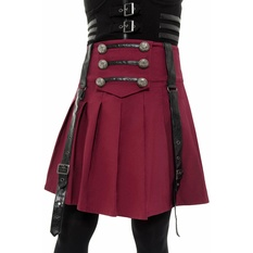 Women's skirt KILLSTAR - Dark Academy - BLOOD, KILLSTAR