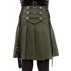 Women's skirt KILLSTAR - Dark Academy - KHAKI, KILLSTAR