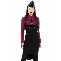 Women's skirt KILLSTAR - Darkwave Division - BLACK, KILLSTAR