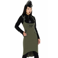 Women's skirt KILLSTAR - Darkwave Division - KHAKI, KILLSTAR
